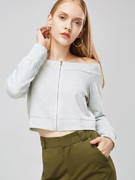 Off Shoulder Long Sleeve Women's Blouse