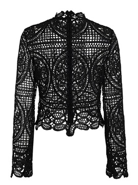 Lace Hollow Slim Sexy Women's Blouse
