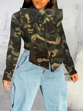 Camouflage Regular Standard Long Sleeve Women's Blouse