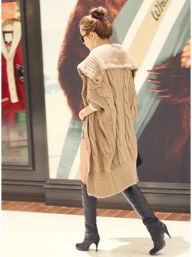Discount Korean Style Turtle Neck Turtle Collar Long Knitwear