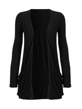 Plain Style Solid Color Cardigan