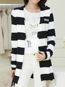 Chic Stripe Slim Cardigan