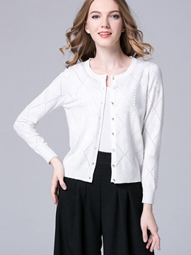 Stylish Single-Breasted Slim Cardigan