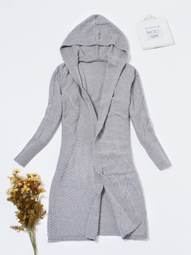 Thick Wrapped Regular Loose Knitted Women's Cardigan