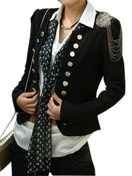 Glamorous Chain in Shoulder Buttons Blazer