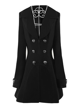 Double-Breasted Zipper Mid-Length Trench Coat