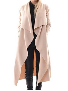 Cool  Ruffled  Collar  Long  Trench Coat
