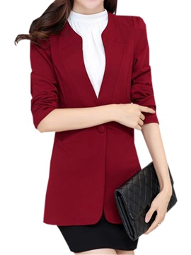 Chic Collar One Button Slim Work Blazer