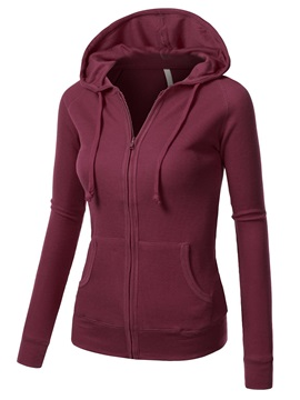 Multi Color Zipper Slim Hoodie