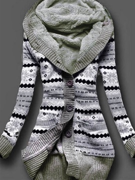 Cardigan Hooded Sweater Knitwear