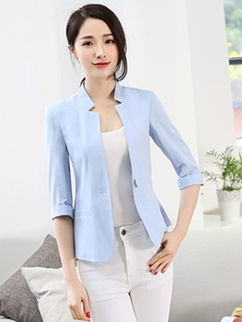 OL Slim Plain One Button Blazer