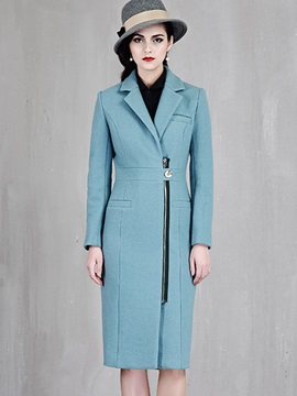Slim Fashion long Sleeve Wool OverCoat
