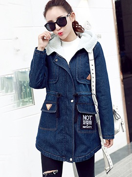 Winter Hooded Long Sleeve Trench Coat