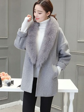 Long Sleeve Mid-Leng Winter Overcoat