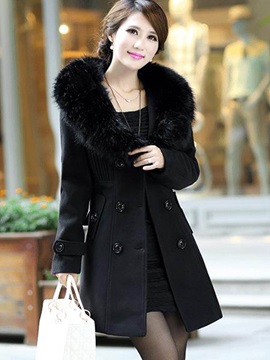 Mid-Length Lapel Slim Winter Overcoat