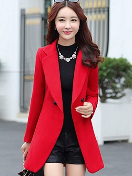 Lapel Slim Women's Winter Overcoat