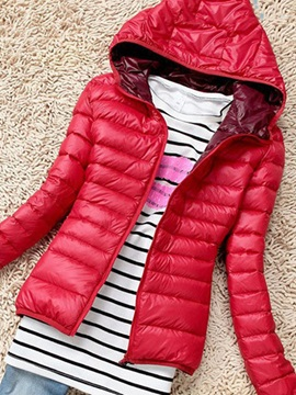 Multi Colors Hooded Light Women's Jacket