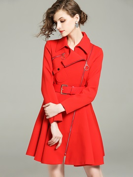 Winter Long Sleeve Loose Mid-Length Trench Coat