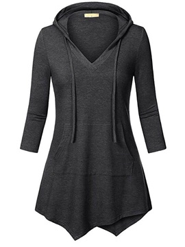 Slim Asymmetric Long Pullover Women's Hoodie