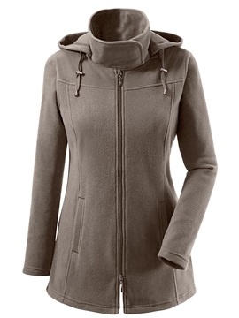 Zipper Stand Collar Women's Jacket