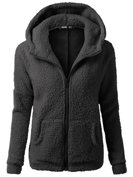 Loose Plain Cardigan Zipper Cool Hoodie