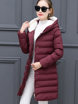 Long Sleeve Mid-Length Plain Regular Overcoat