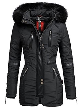 Winter Hooded Faux Fur Slim Women's Cotton Padded Jacket