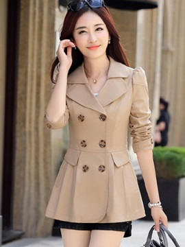 Mid-Length Slim Women's Trench Coat