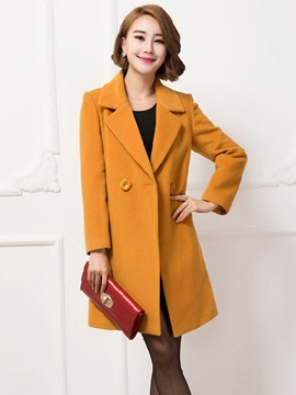 Long Sleeve Slim Mid-Length Trench Coat