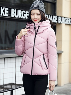 Long Sleeve Plain Zipper Women Overcoat