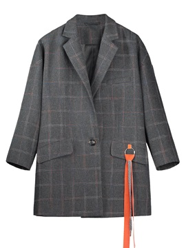 Tidebuy Plain Women's Overcoat