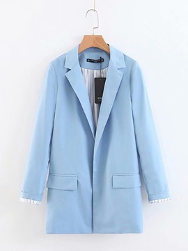 Candy Color Pocket Women's Blazer