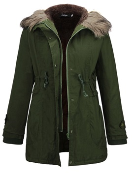 Winter Zipper Hooded Women's Overcoat