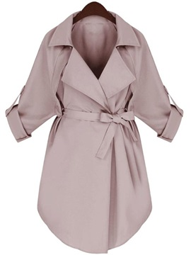 OL Fall Lapel Women's Wrapped Trench Coats