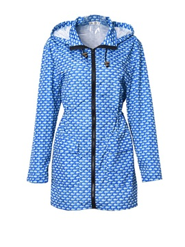 Polka Dot Loose Lightweight Women's Trench Coat