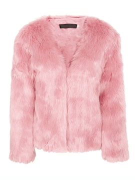Winter Faux Fur Open Front Women's Overcoat