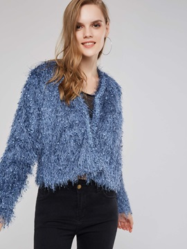 Tassel Open Front Sweet Women's Short Jacket