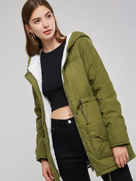 Lambswool Liner Hooded Thick Women's Winter Coat