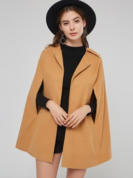 Open Front Thick Plain Women's Cape
