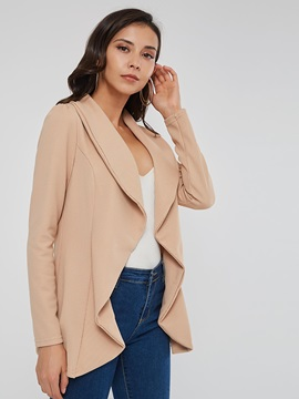 Long Sleeve Wrapped Slim Lapel Women's Jacket
