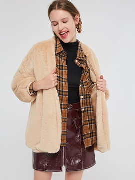 Loose Thick Mid-Length Women's Teddy Bear Coat