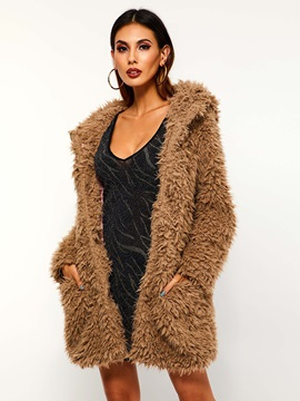 Wrapped Loose Mid-Length Winter Women's Teddy Bear Coat