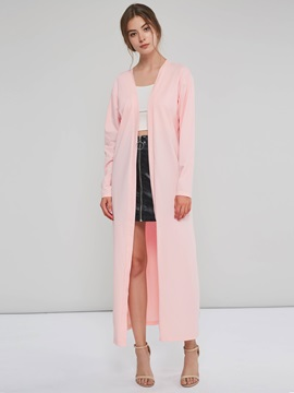 Wrapped Plain Slim Fall Long Women's Trench Coat