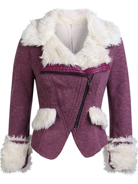 Slim Zipper Short Women's Cotton Padded Jacket