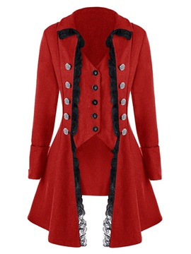 Slim Asymmetric Single-Breasted Mid-Length Lapel Women's Overcoat