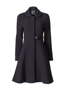 Plain Lapel One Button Hemline Women's Trench Coat