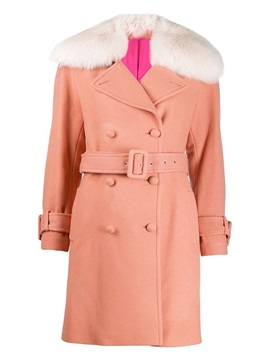 Plus Size Straight Double-Breasted Mid-Length Women's Overcoat
