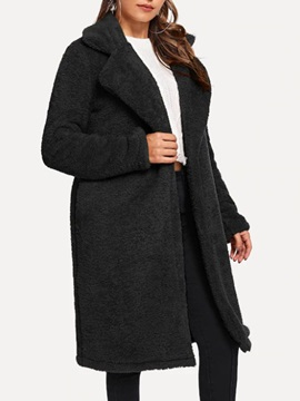 Loose Regular Long Slim Women's Overcoat