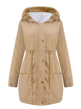 Thick Zipper Loose Mid-Length Women's Cotton Padded Jacket