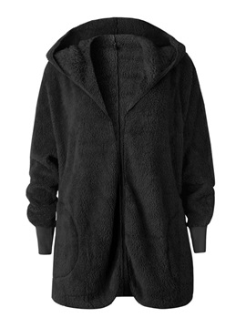 Loose Mid-Length Hooded Women's Slim Overcoat